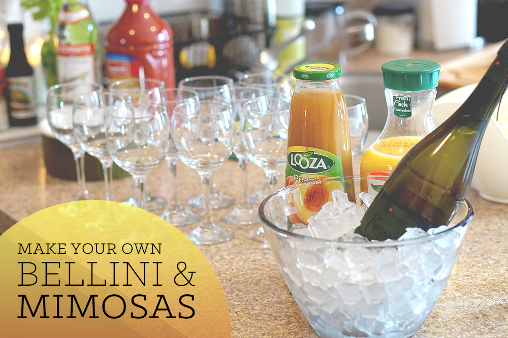 bellini and mimosas