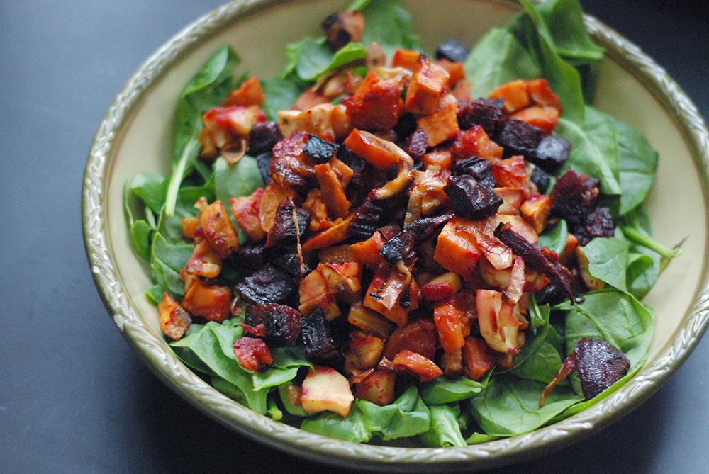 veggies on salad