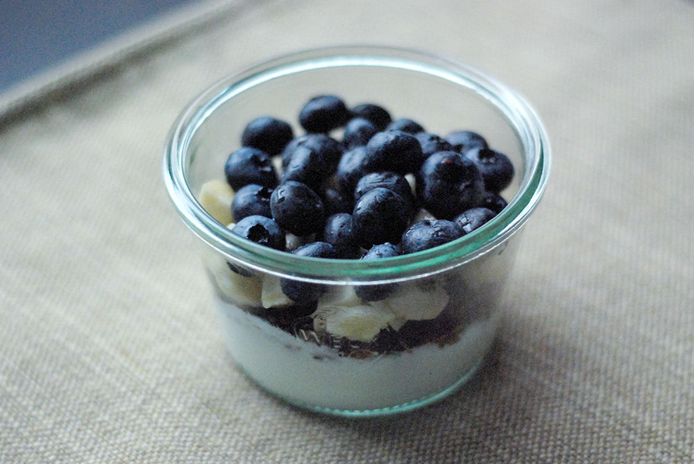 weck jar with parfait