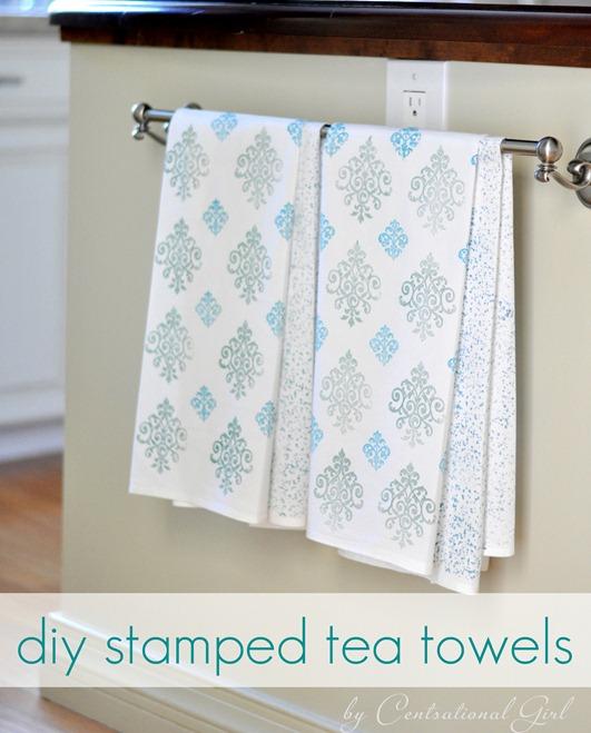 diy-stamped-tea-towels