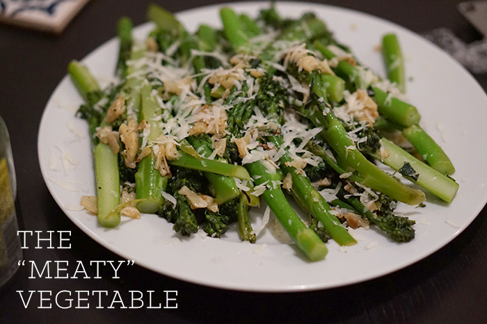 plated broccolini