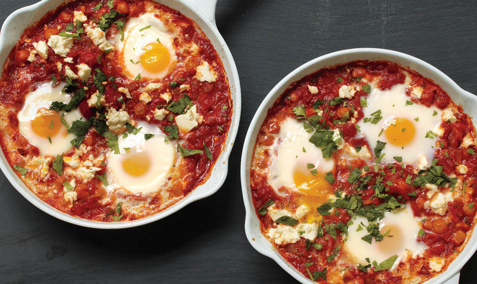 Tomato And Feta Baked Eggs Recipe — Dishmaps