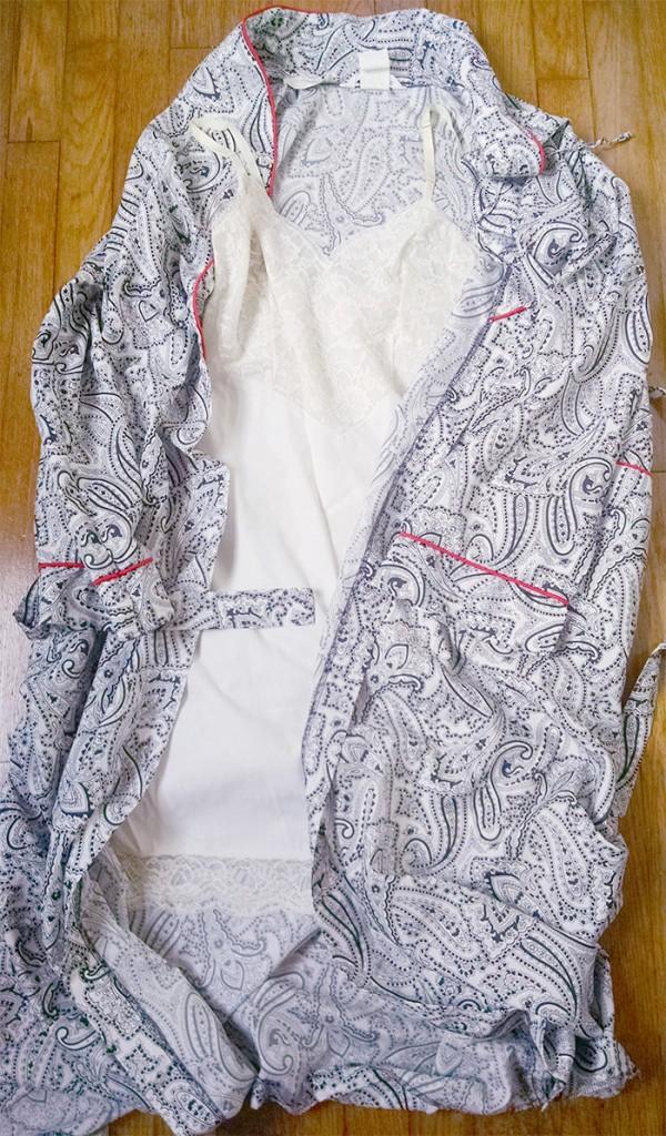 slip and robe