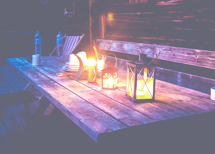 table-with-lantern