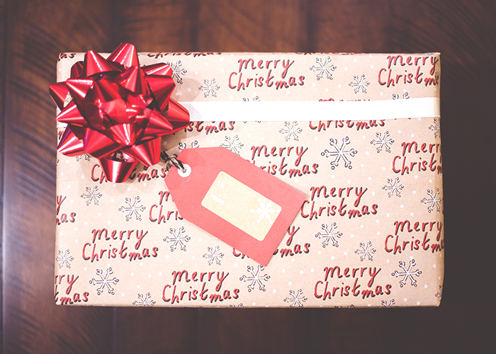 christmas-wrapped-present-on-table