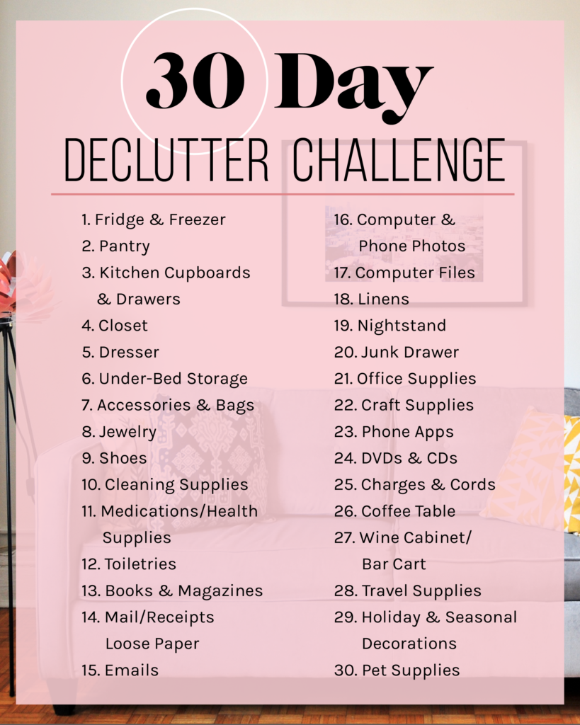 Exactly How I Plan To Declutter My Apartment In 30 Days