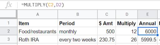 excel budget spreadsheet
